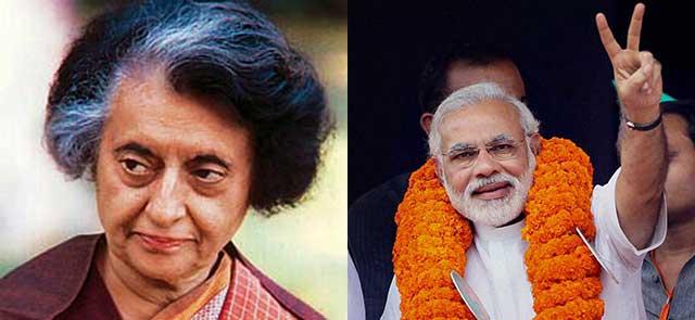 Indira-gandhi-narendra-modi