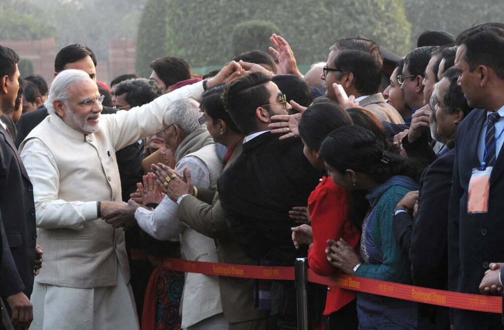 Modi in crowd