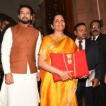 Nirmala Sitharaman with the Union Budget 2020