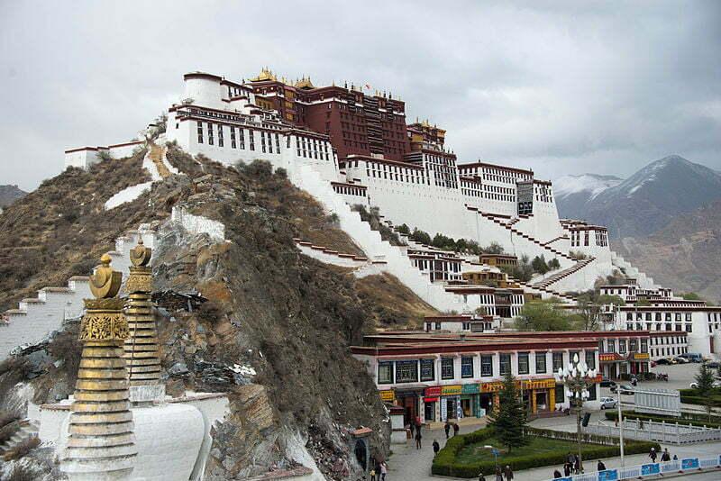 Potala Palace in Lhasa.