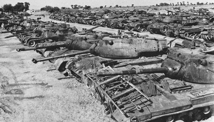 Pattonnagar: The graveyard of Pakistani Patton tanks; decimated by Indian Centurions(Image: India Times)