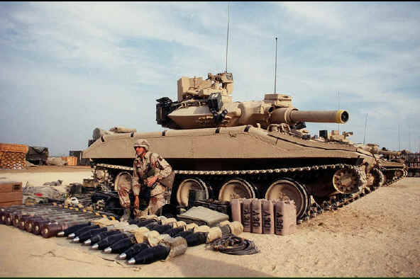 M-551A1 Sheridan-a lightly armoured, tracked, air droppable, direct fire tank