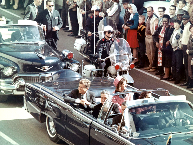 John F. Kennedy the 35th president of the United States just before his assassination
