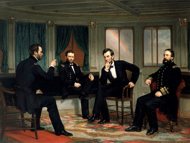 Abraham Lincoln the 16th Presidents of USA in a meeting
