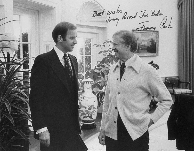 Joe Biden and President Jimmy Carter