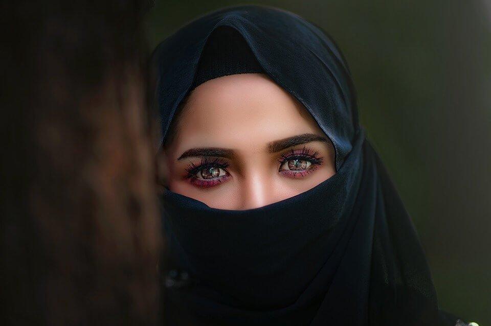 Islamic lady in burqa