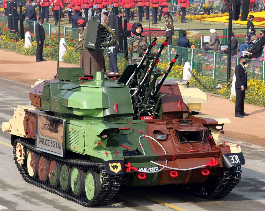 armed forces Chilka gun at RD parade