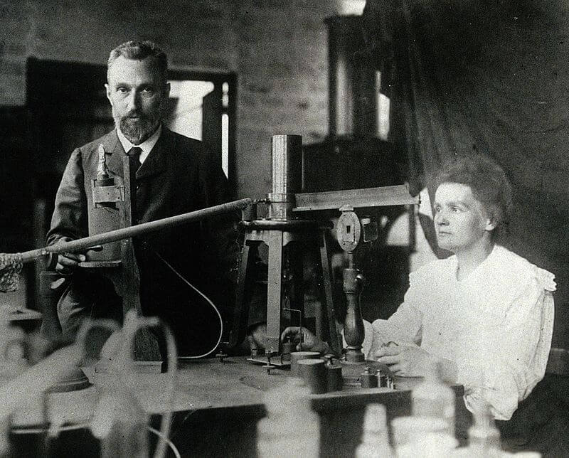 Marie Curie and her husband Pierre Currie