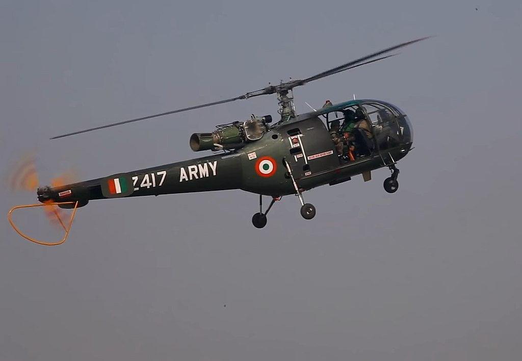 helicopter in Kargil