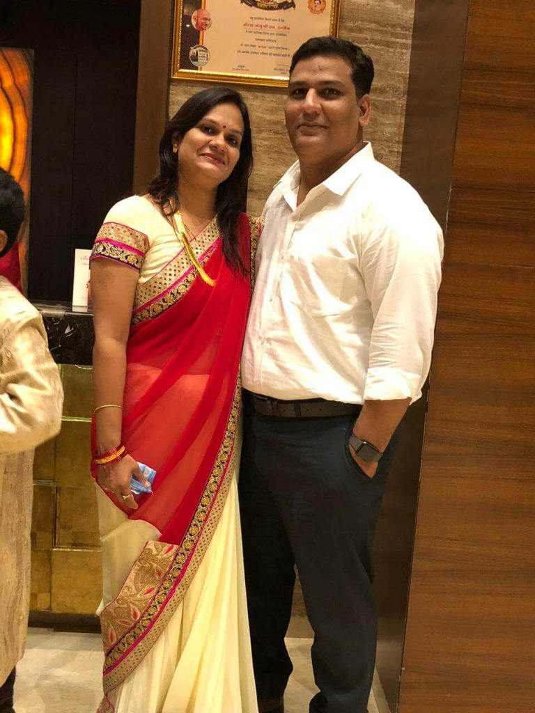 Kapil and his wife Ruchi Mishra