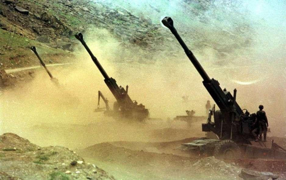 Arty guns at Tiger hill Kargil