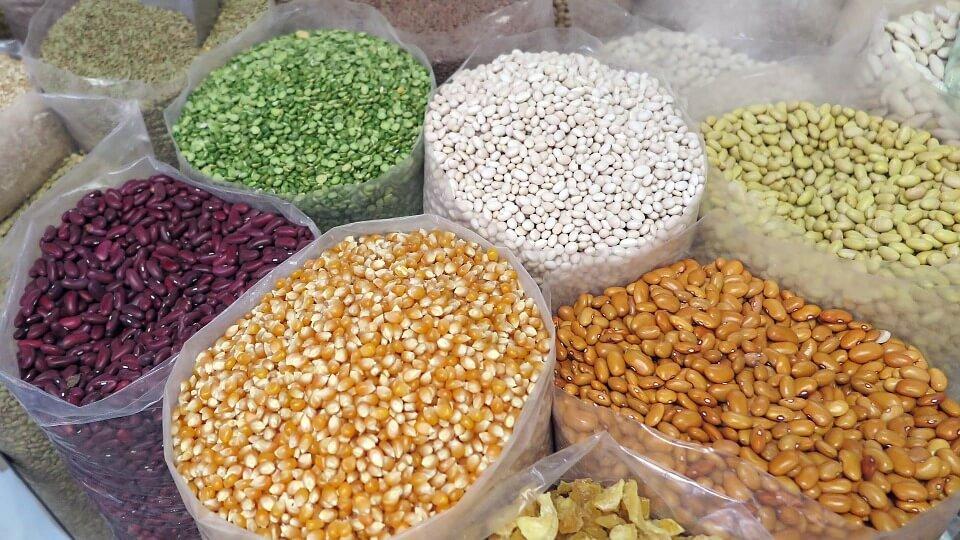 Cereals, pulses and vegetables together make a balanced diet